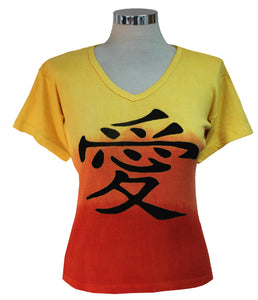 Dead Threads - Women's Yellow Dip Dyed Half Sleeve T-shirt