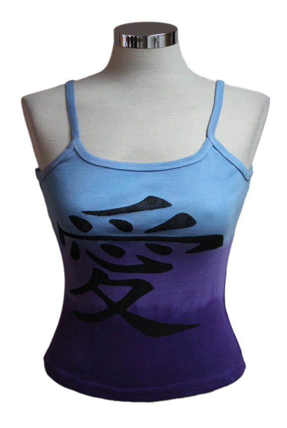 Dead Threads - Women's Blue Dip Dyed Sleeveless T-shirt