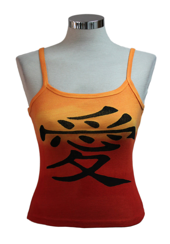Dead Threads - Women's Orange Dip Dyed Sleeveless T-shirt