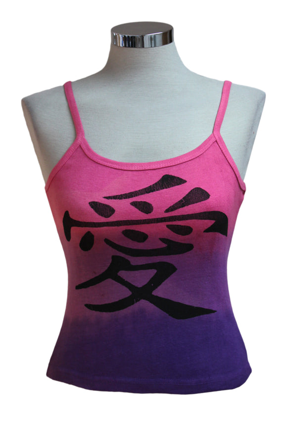 Dead Threads - Women's Pink Dip Dyed Sleeveless T-shirt