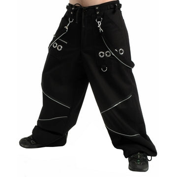 Dead Threads - Men's Wide Leg Black Four Pockets Baggy Style Trouser