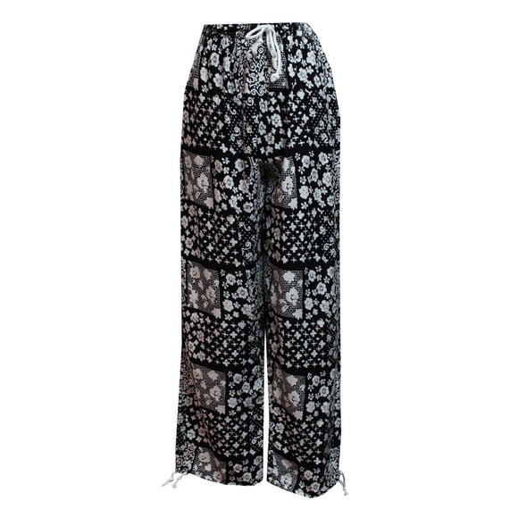 Dead Threads - Women's Black and White Boho Style Trousers
