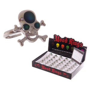 Egg n Chips London - Fun Skull and Cross Bone Mood Rings - Egg n Chips London