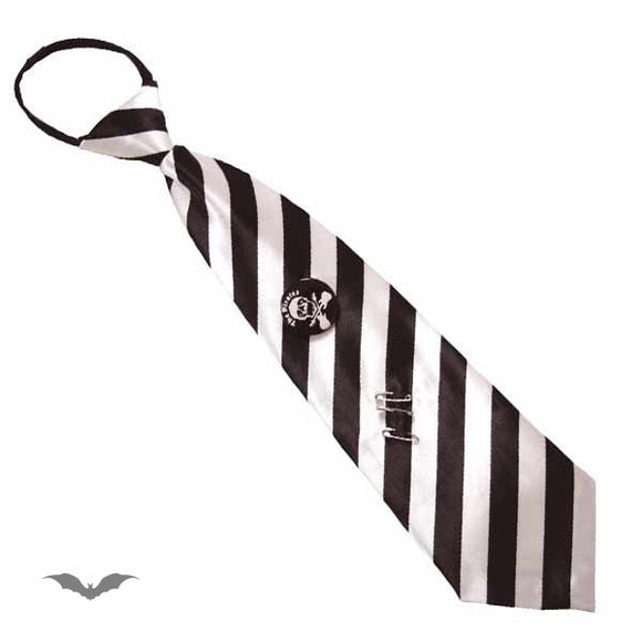 Queen of Darkness - Tie Stripes white / black