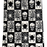 Queen of Darkness - Tie black / white, Scull and Spider