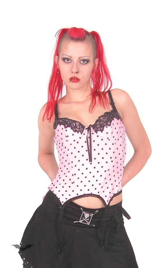 Queen of Darkness - Top Straps pink, Dots black