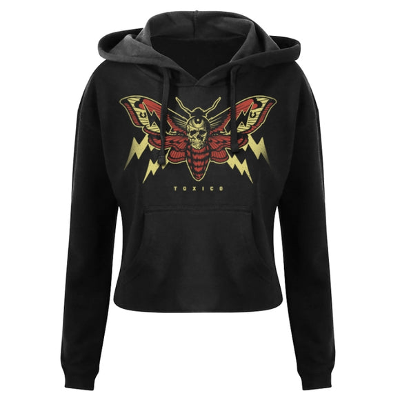 Toxico Clothing - Moth Cropped Pullover Hood