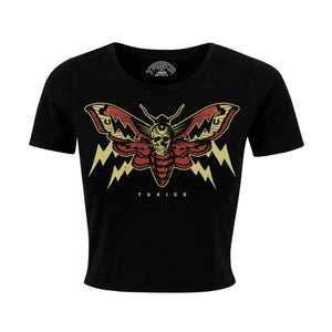 Toxico Clothing - Moth Cropped Tee