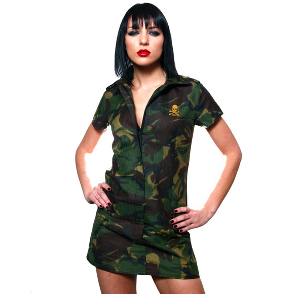 Toxico Clothing - Skull & Bones Camo Ripstock Dress