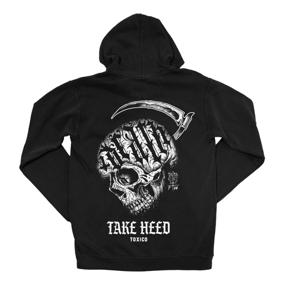 Toxico Clothing - Skull Cross Zip Hood