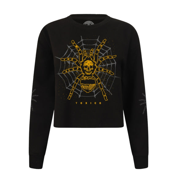 Toxico Clothing - Tarantula Crop Sweat