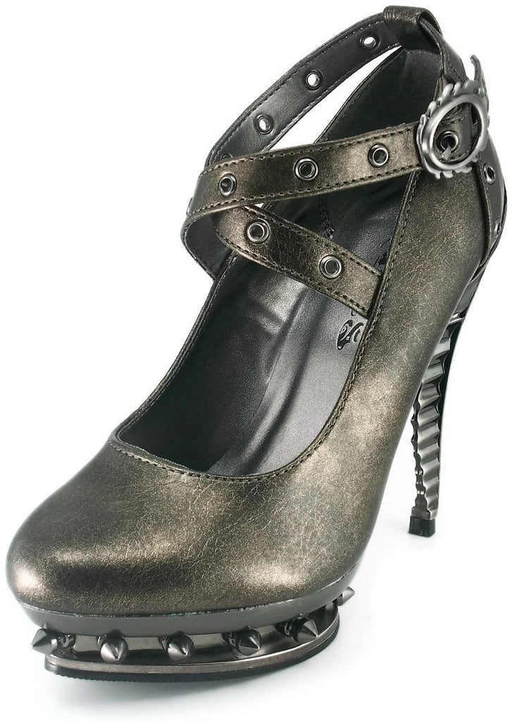 Hades Shoes - Triton Pewter Steampunk Heels