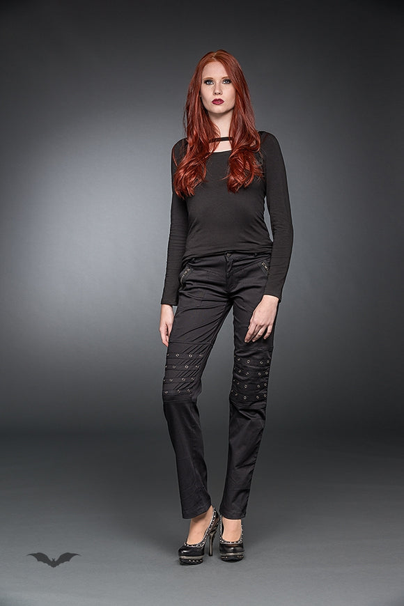 Queen of Darkness - Trousers With Studs