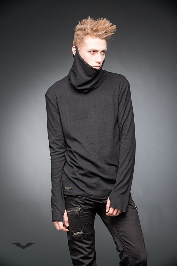 Queen of Darkness - Turtleneck sweater with thumbholes