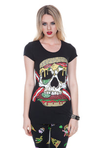 Jawbreaker Clothing - Twisted Burger Shirt - Egg n Chips London