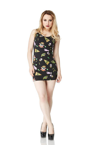 Jawbreaker Clothing - Twisted Fast Food Cut Out Dress