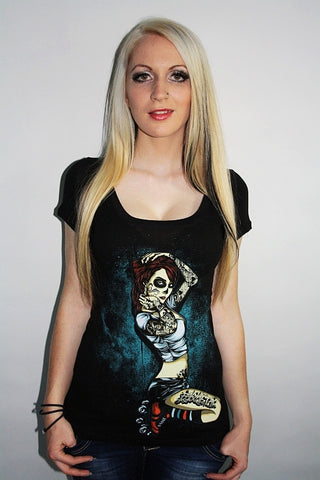 Barmetal Clothing - Underground Skater Scoopneck Top