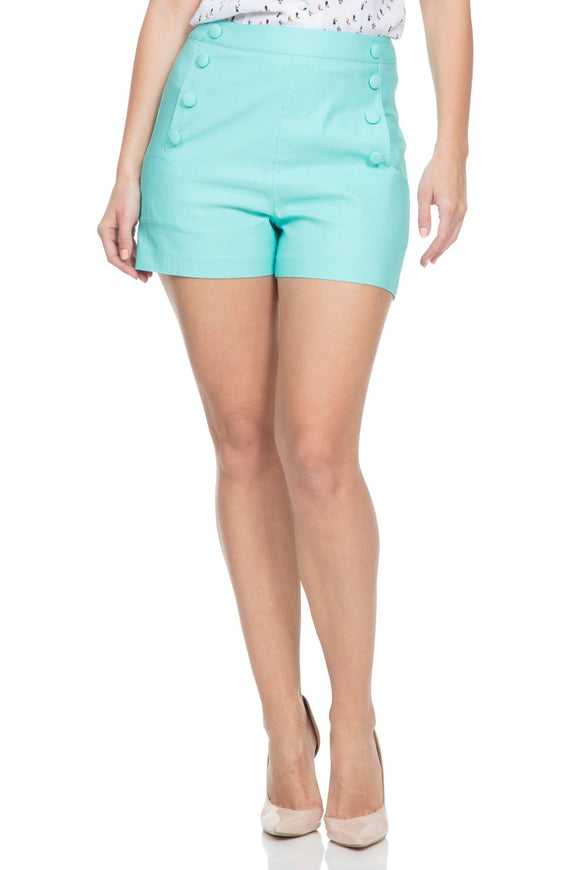 Voodoo Vixen - Women's Evie Green Shorts - Egg n Chips London