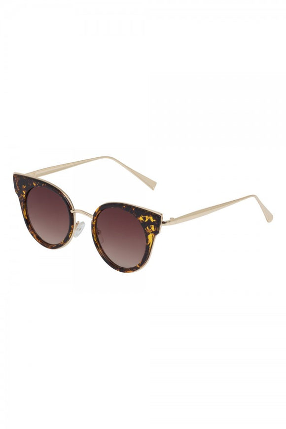 Voodoo Vixen - 50's Round Leopard Sunglasses - Egg n Chips London