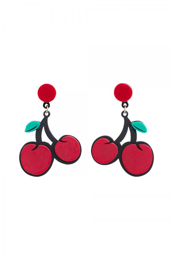 Voodoo Vixen - Cherry On Top Earrings - Egg n Chips London