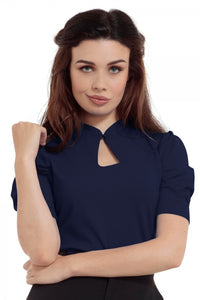 Voodoo Vixen - Dita Navy Keyhole Cut-out - Egg n Chips London