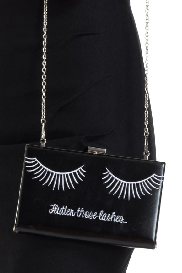 Voodoo Vixen - Flutter Those Lashes Clutch - Egg n Chips London