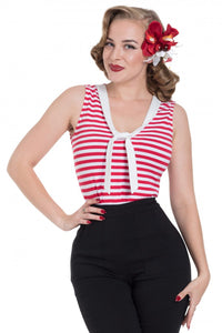 Voodoo Vixen - Haili Nautical Stripe Top