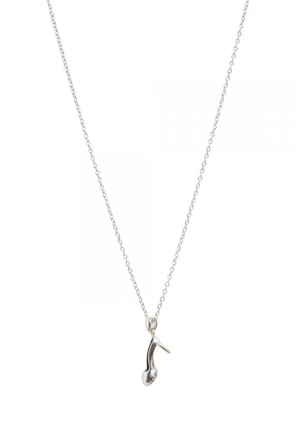 Voodoo Vixen - If The Shoe Fits Necklace Silver - Egg n Chips London
