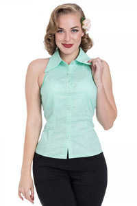 Voodoo Vixen - Jasmine Mint Sleeveless Shirt