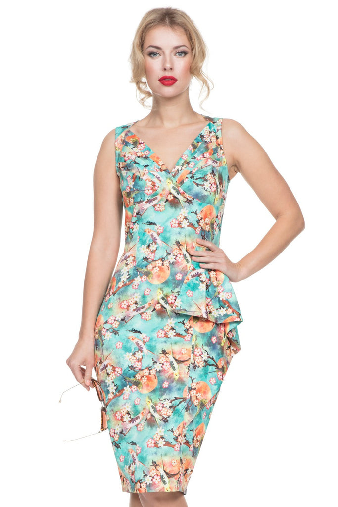 Voodoo Vixen - Jessa Pencil Summer Dress - Egg n Chips London