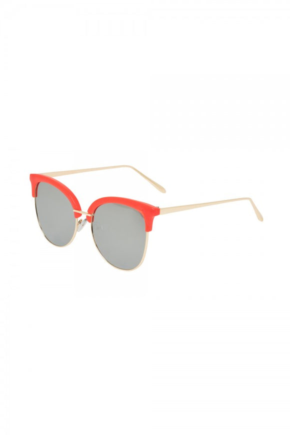 Voodoo Vixen - Red Clubmaster Sunglasses - Egg n Chips London