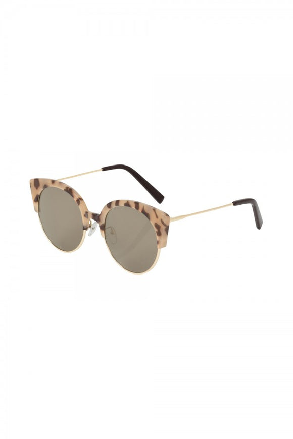 Voodoo Vixen - Retro Cat Eye Clubmaster Sunglasses Leopard - Egg n Chips London