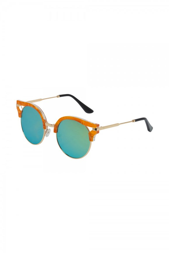 Voodoo Vixen - Retro Round Clubmaster Sunglasses - Egg n Chips London
