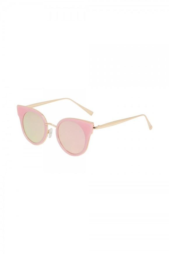Voodoo Vixen - Retro Round Pink Sunglasses - Egg n Chips London