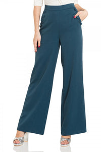 Voodoo Vixen - Sara Blue 40s Style Trousers