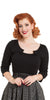 Voodoo Vixen - Sophie Black Knitted Top