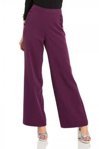 Voodoo Vixen - Stacey Purple 40s Style Trousers