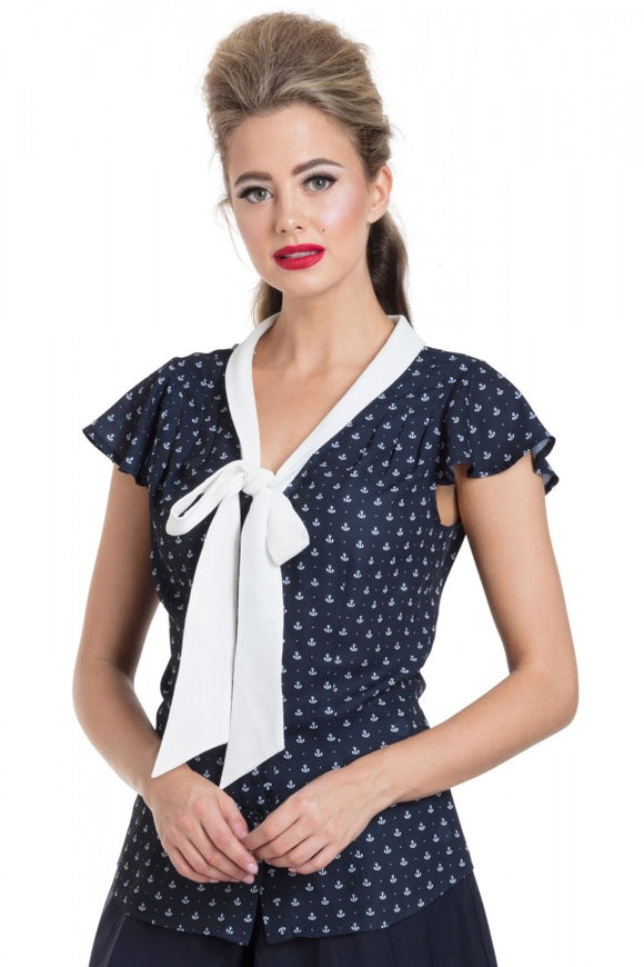 Voodoo Vixen - Susan Nautical Blouse