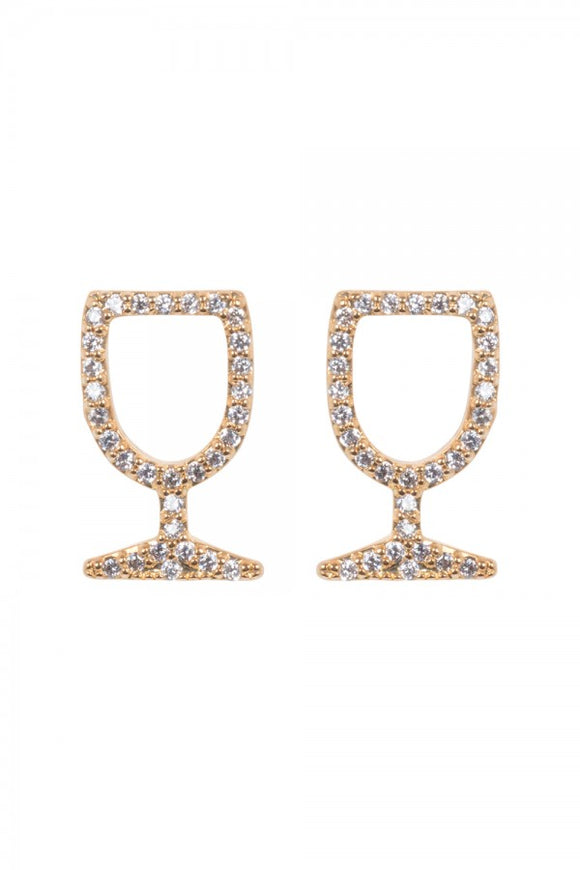 Voodoo Vixen - Wine Glass Studs - Egg n Chips London