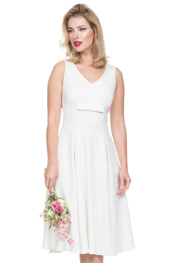 Voodoo Vixen - Women's Monroe Bridal Lace Dress in White - Egg n Chips London