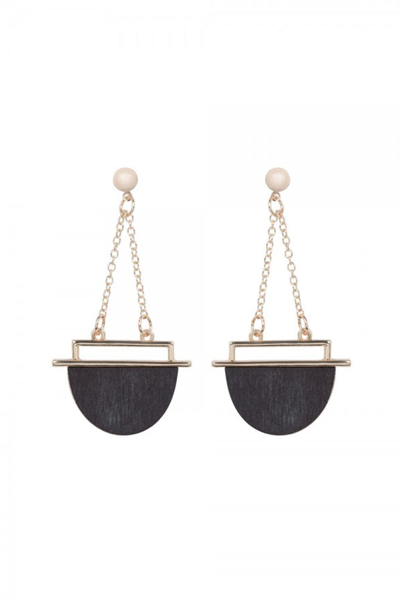 Voodoo Vixen - Wooden Drop Earrings - Egg n Chips London