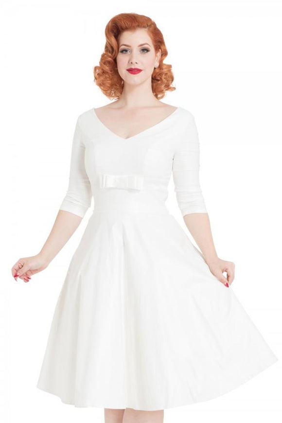 Voodoo Vixen - Dorothy Bridal Flared Dress - Egg n Chips London