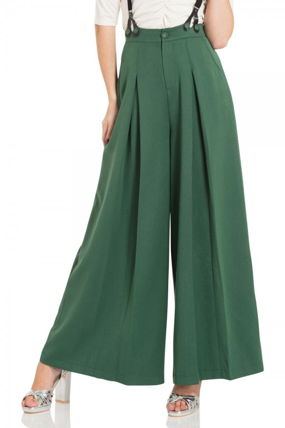 Voodoo Vixen - Laura Green 40s Style Trousers - Egg n Chips London