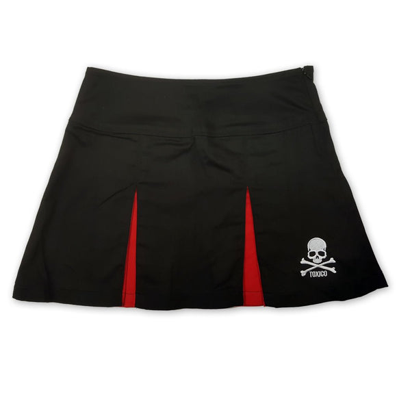 Skull & Bones Cheer Skirt - Toxico Clothing