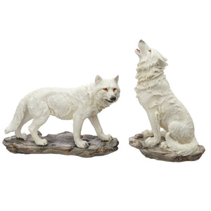 White Ghost Walker Protector of the North Wolf Figurine WOLF35