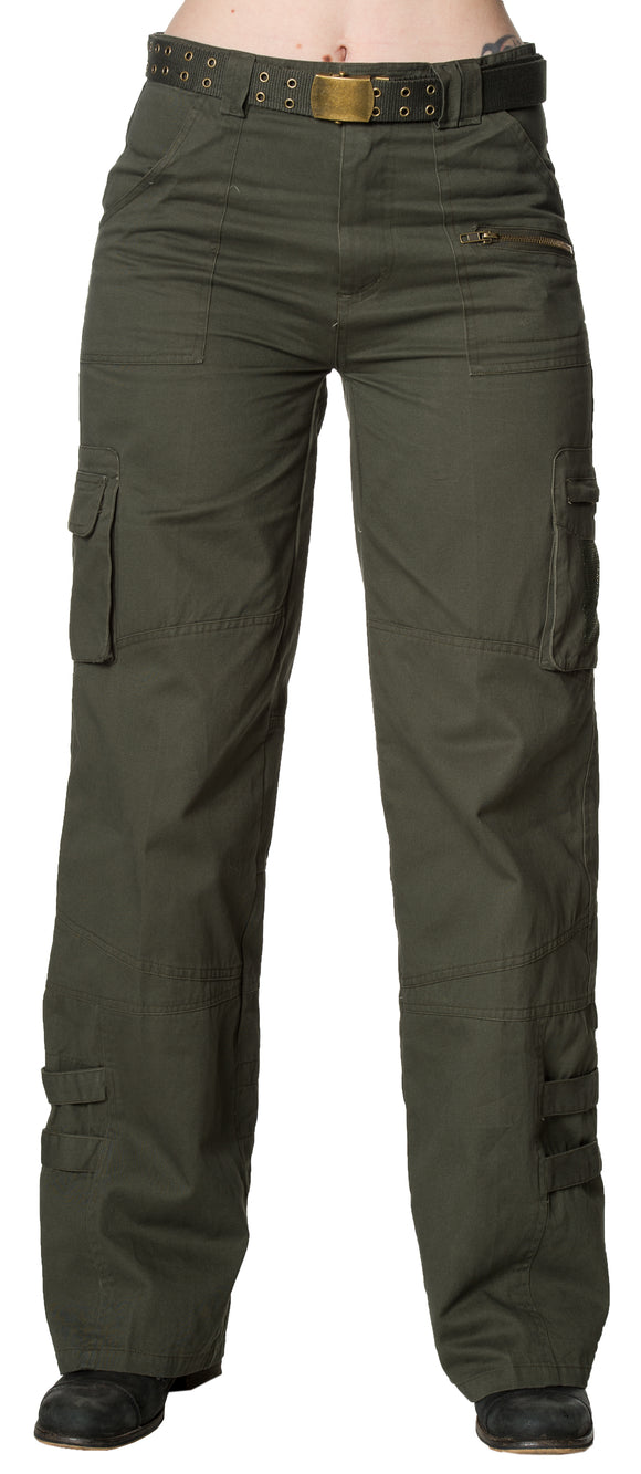 Dead Threads - Women's Khaki Five Pocket Pants (four pocket on front and one pocket on back)