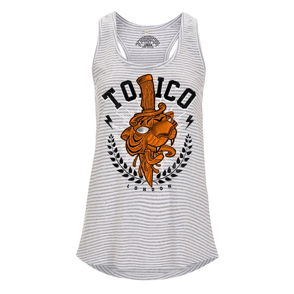 Tiger London Racerback Vest - Toxico Clothing