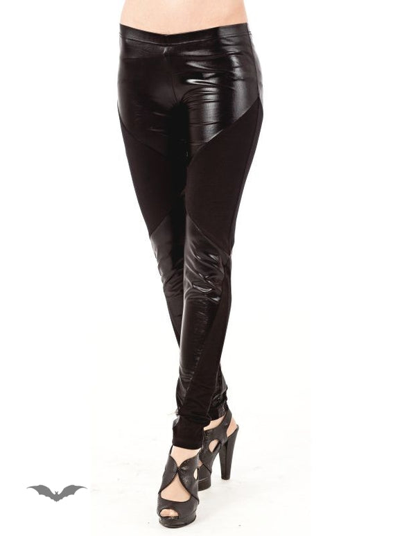 Queen of Darkness - Wet Look & Cotton Leggings