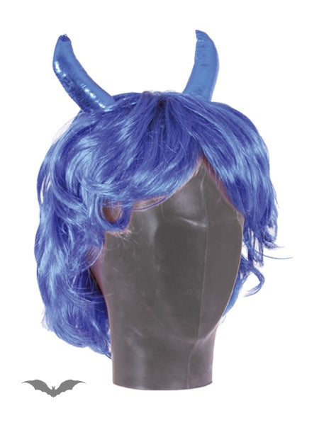Queen of Darkness - Wig blue short, Devil