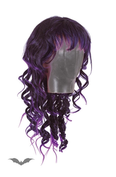 Queen of Darkness - Wig, purple/black, long hair, curly